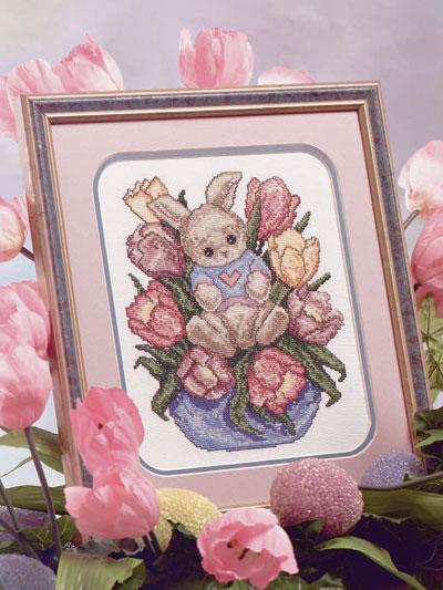 Bunny in Tulips photo