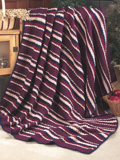 Knitted Stripe Afghan photo