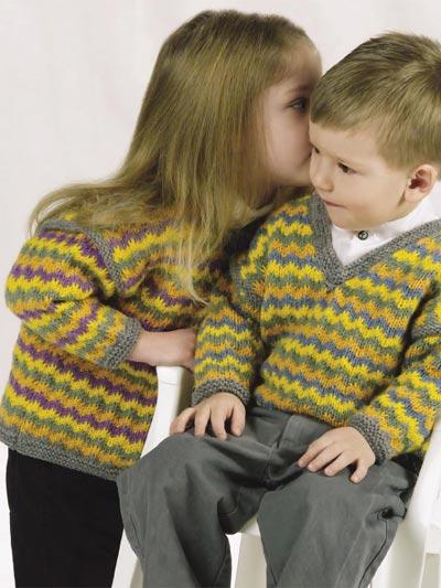 Rickrack Stripes Cardigan & Pullover photo