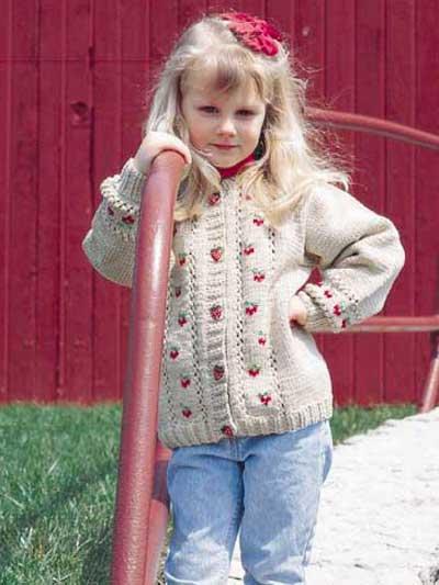 Child's Berry Cardigan photo
