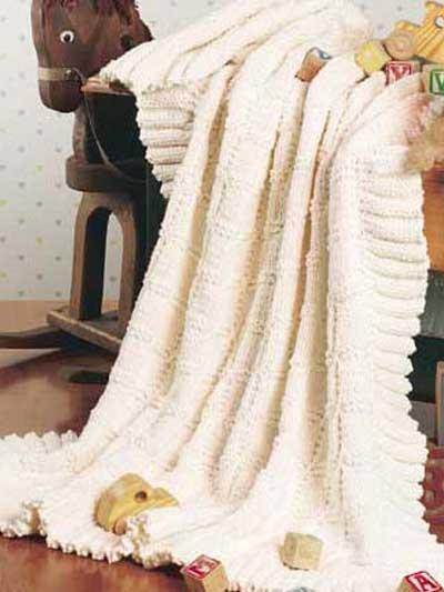 Ruffled Blocks Baby Blanket photo