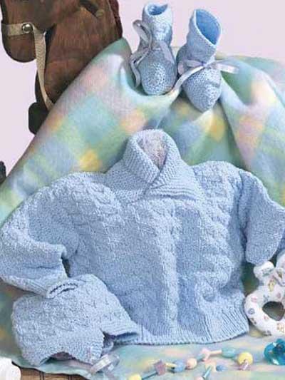 Baby's Triangle Sweater Set photo