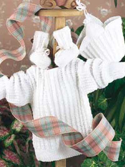 Infant's Mini-Cable Sweater Set photo