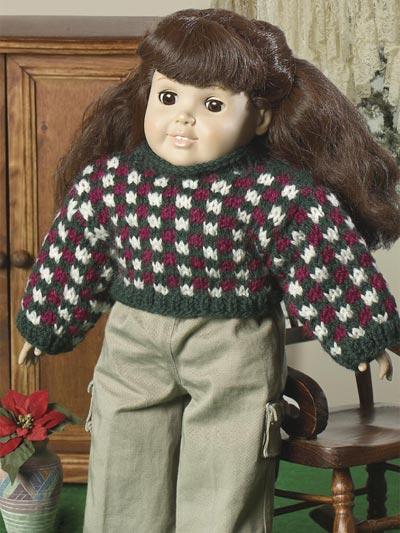 Checkerboard Doll Pullover photo