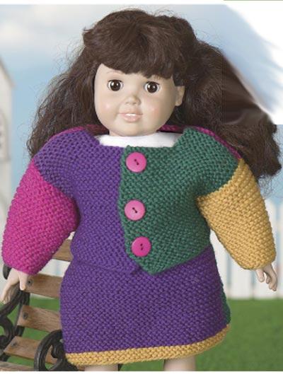 Garter -Stitch Doll Suit photo