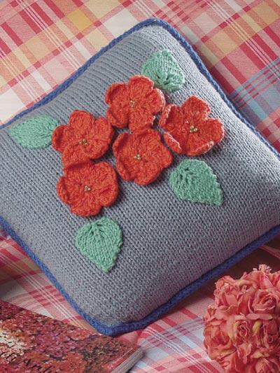 3-D Geranium Pillow photo