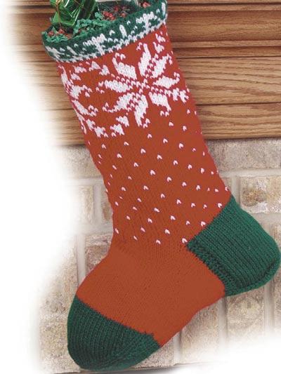 Christmas Snowflakes Stocking photo