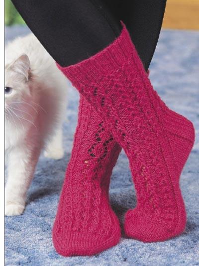 Lace Leaf Socks photo