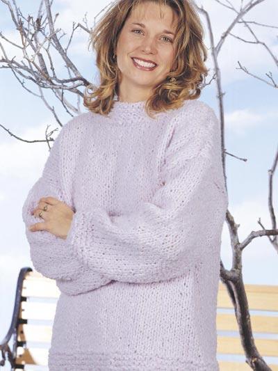 Lilac Boucle Sweater photo