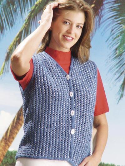 Blue Jeans Beach Vest photo