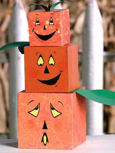 Pumpkin Block Tower photo