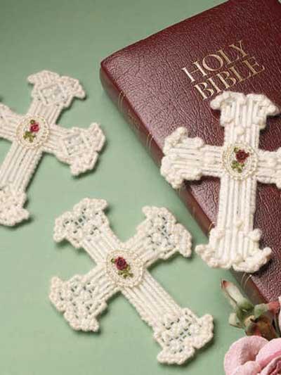 Lace Flower Crosses photo