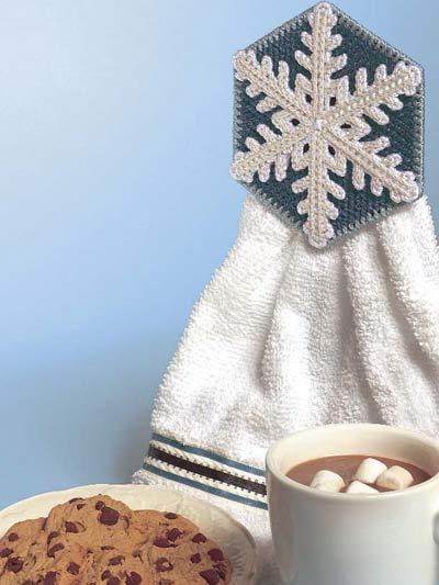 Snowflake Towel Holder photo