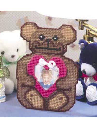 Teddy Bear Heart Frame photo