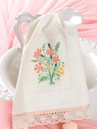 Stenciled Wildflowers Showcase Towel photo