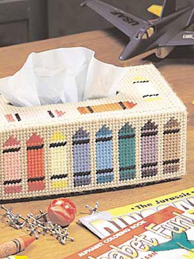 Crayon Tissue Box Topper photo