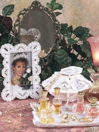 Satin and Lace Vanity Set photo