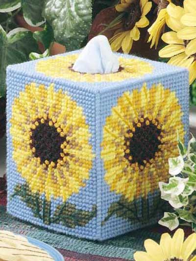 Sunflower Tissue Box Cover photo