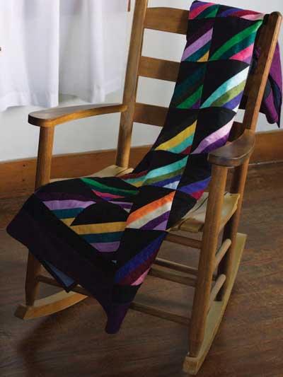 Roman Stripes Crib Quilt photo