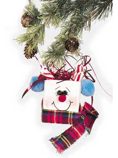 Milk Carton Snowman photo