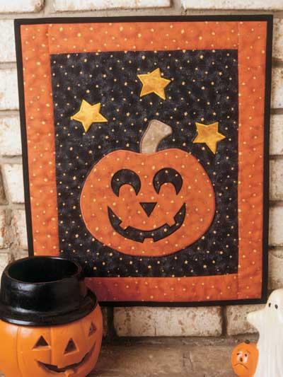 Jack-o'-Lantern Door Quilt photo