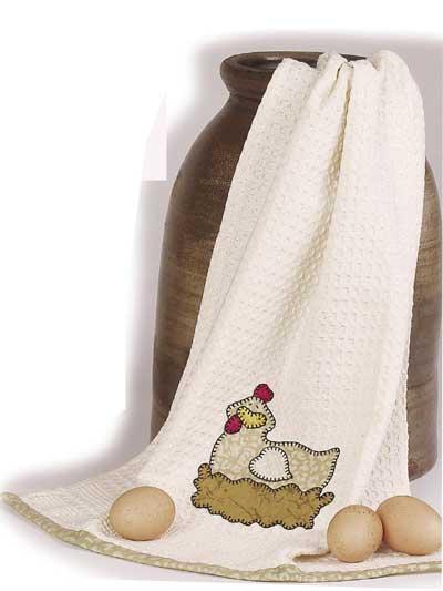 Nesting Hen Dish Towel photo
