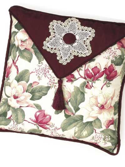 Floral Elegance Pillow & Candle Mat photo