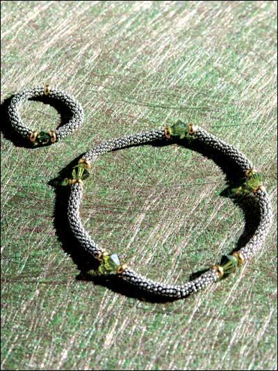 Bali-Textured Braclet & Ring Set photo
