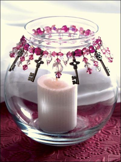 Keys to My Heart Candle Jar photo