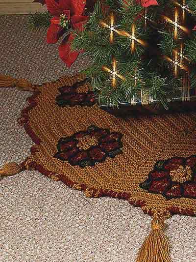 Crochet 'n' Weave Tree Skirt photo