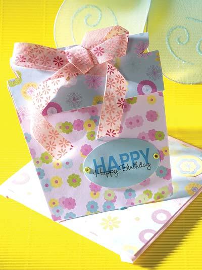 Birthday Card Gift Holder photo