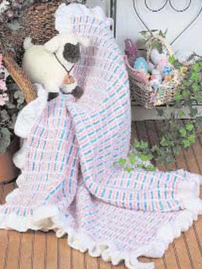 Textured Plaid Baby Afghan photo