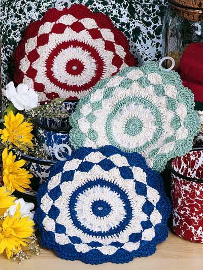 Shells & Stripes Pot Holders photo