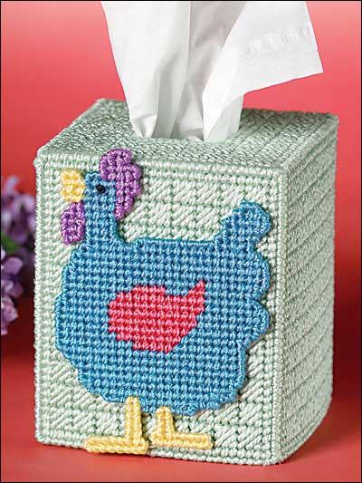Funky Chicken Tissue Topper photo