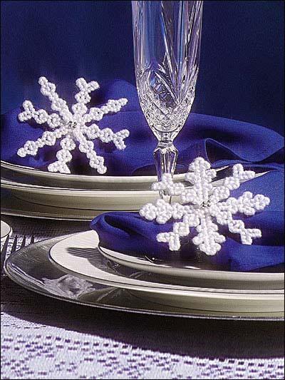 Beaded Snowflakes photo