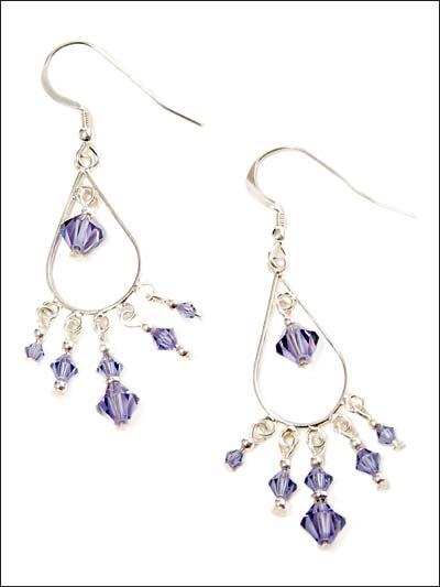 Lavender Drops Chandelier Earrings photo