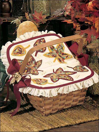 Mosaic Leaves Basket Topper photo