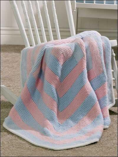Log Cabin Baby Blanket photo