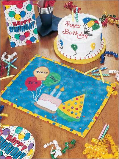 Happy Birthday Place Mat photo