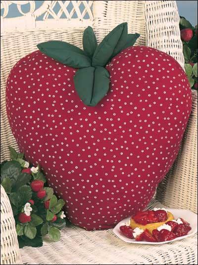 Strawberry Fluff Pillow photo