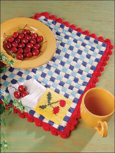Cherries & Gingham Place Mat photo