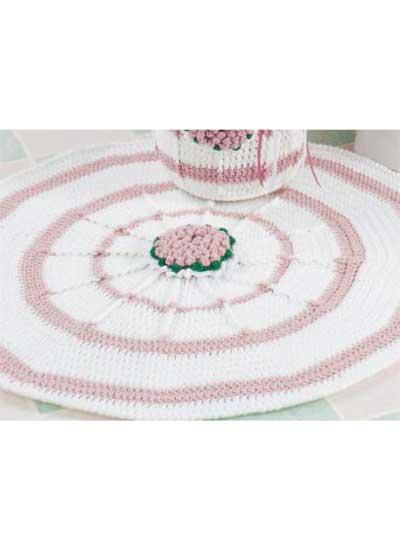 Floral Round Rug photo