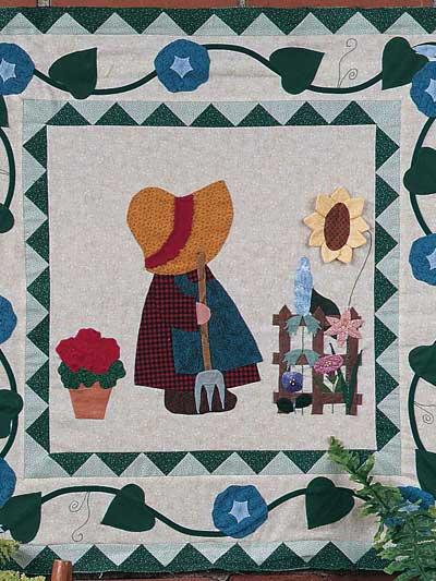 Gardening Sue Wall Quilt photo