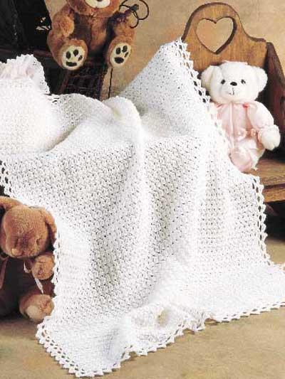 Picot Stitch Baby Blanket photo