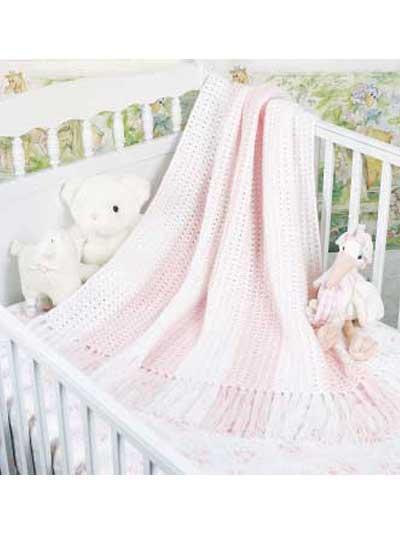 Pink Stripes Splendor Baby Afghan photo