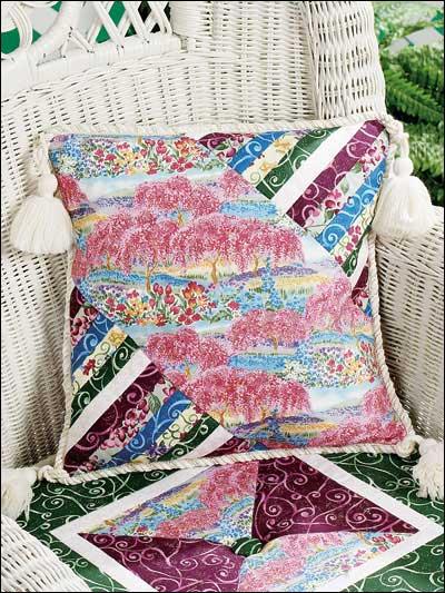 Strip-Pieced Garden Pillow photo