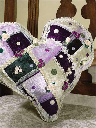 Woven Heart Accent Pillow photo