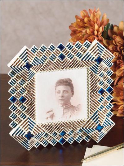 Blue & Copper Frame photo