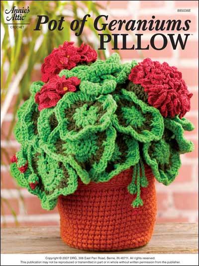 Pot of Geraniums Pillow photo