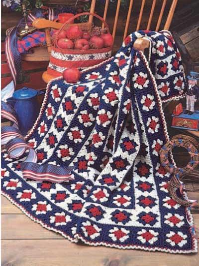Simply Patriotic Afghan photo